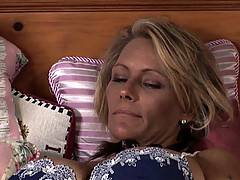 Lesbian lovers Melissa Monet and Debi Diamond get kinky