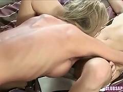 Blonde with big boos and big ass knows how to lick kitty