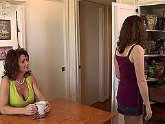 Sammy Grand the college girl seduced by MILF Deauxma