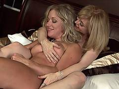 Nina Hartley seduces sexy college student and makes her cum