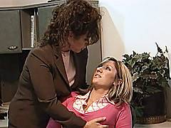 Keisha makes move on Jessica Shaw before leading her in to the bedroom for some rough sex